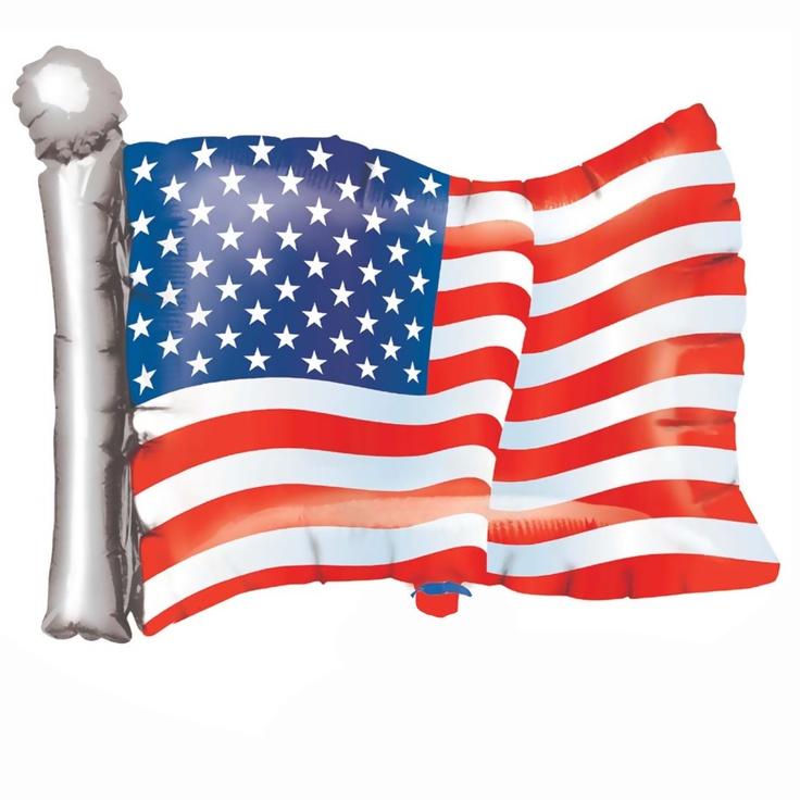 American Flag Super Shape Balloon