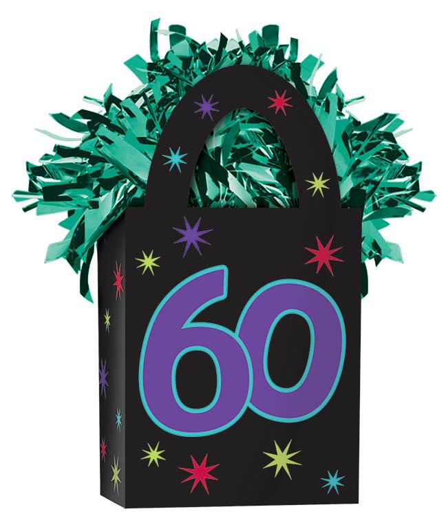 60th Birthday Balloon Weight
