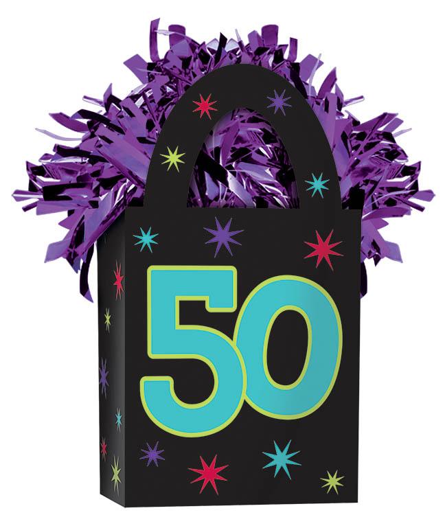 50th Birthday Balloon Weight