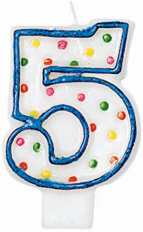 #5 Candle Polka Dots