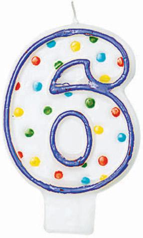 #6 Candle Polka Dots