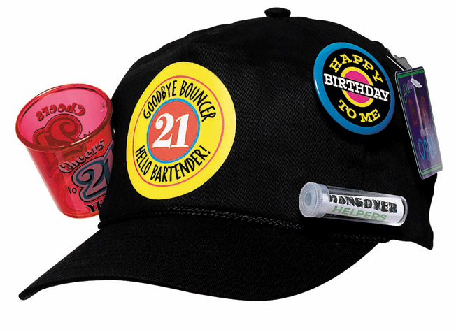 21st Birthday Baseball Survival Cap