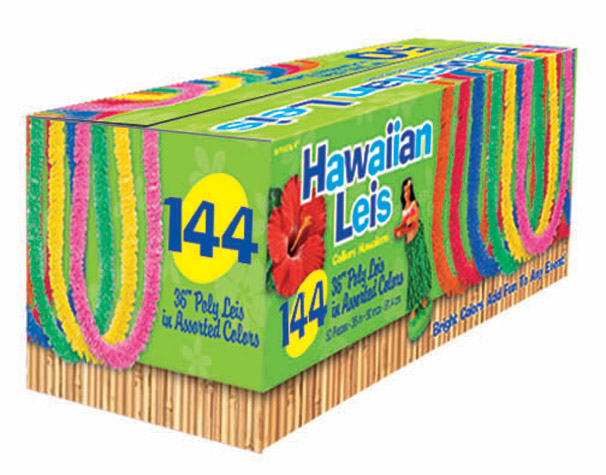 144ct Boxed Polyester Lei Assortment