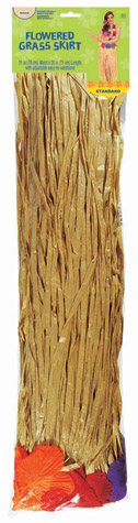 Adult Grass Skirt w/ Flowers