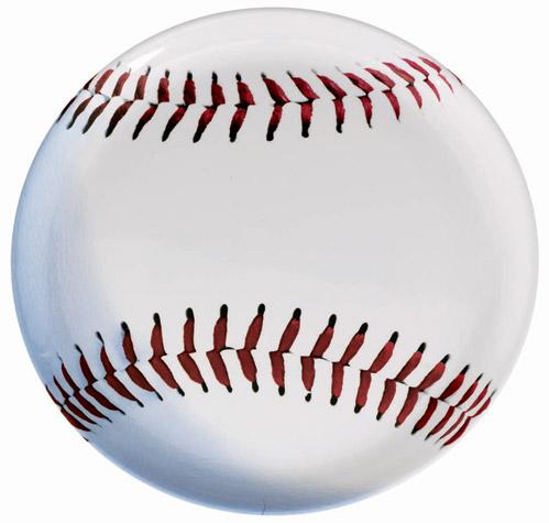 Baseball Round Plastic Platter