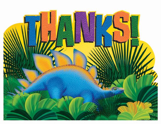 Prehistoric Dino Party Thank You Cards