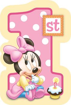 Disney Minnie's First Birthday Invitations