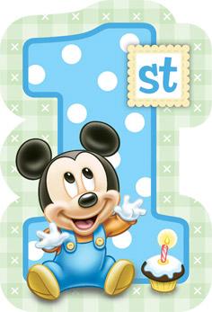 Mickey Mouse 1st Birthday Invitations