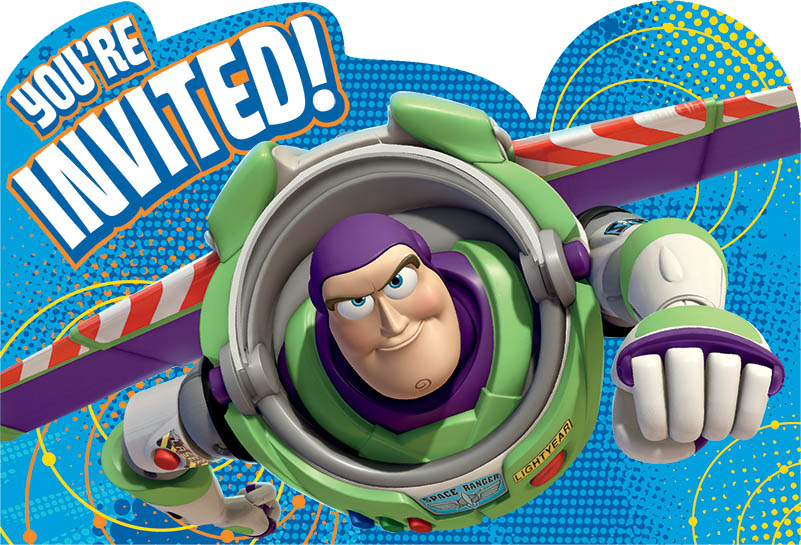 Disney Pixar Toy Story Power Up Postcard Invitations