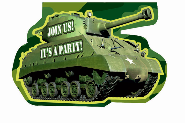 Camouflage Invitations