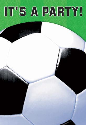 Soccer Invitations