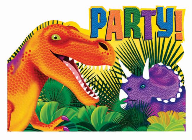 Prehistoric Dino Party Invitations
