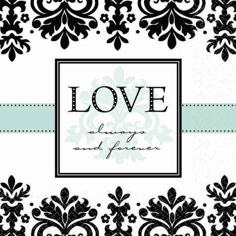 Always and Forever Luncheon Napkins