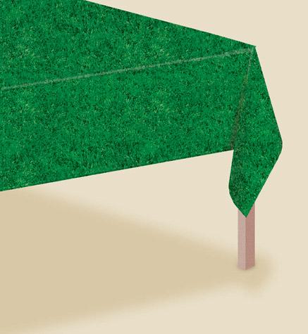 Baseball All-Over Print Grass Table Cover