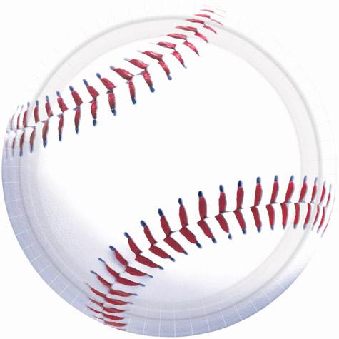 Baseball 10 1/2 inch Paper Plates