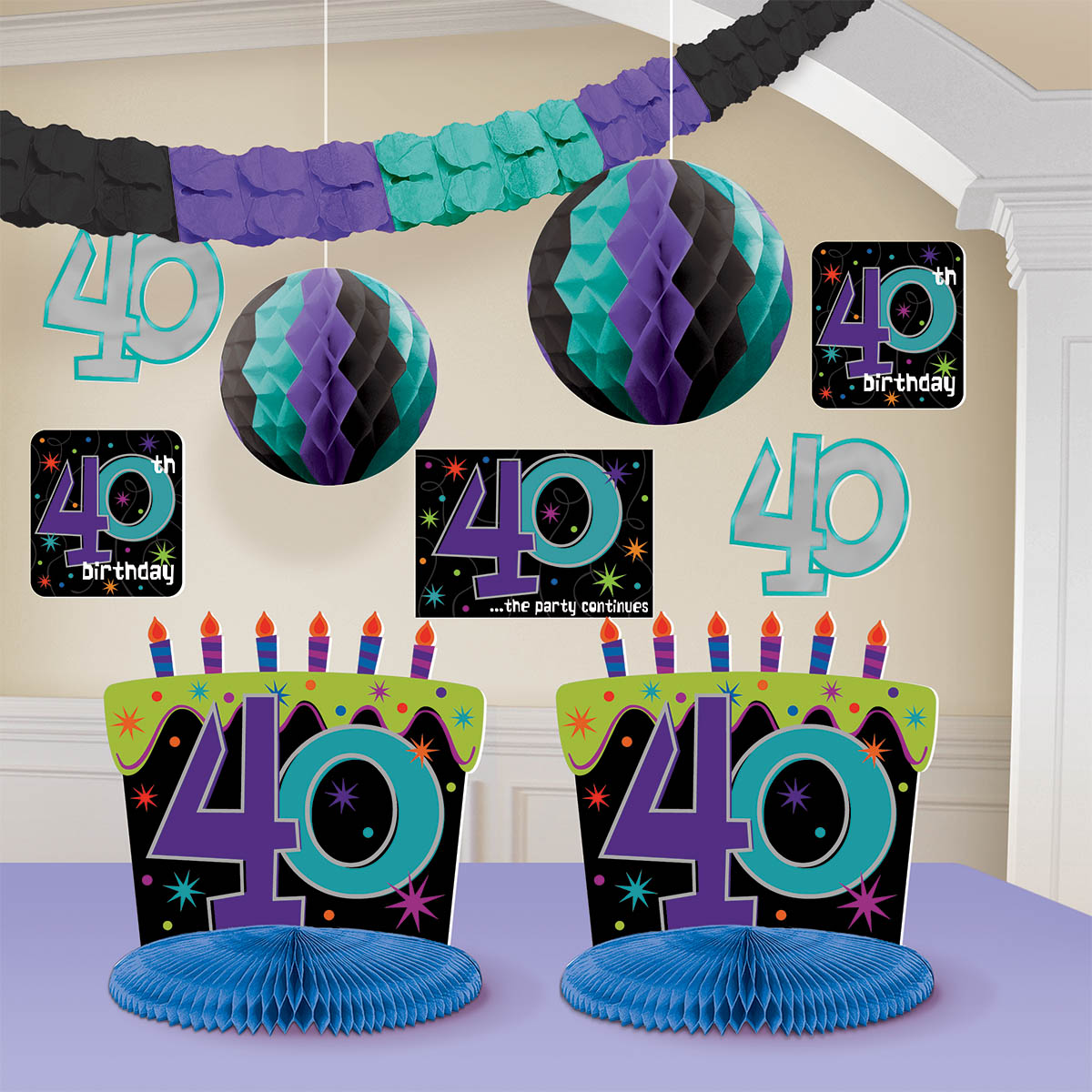 At 40 Party Decorations 40 The Party Continues Archives The Party Starts Here
