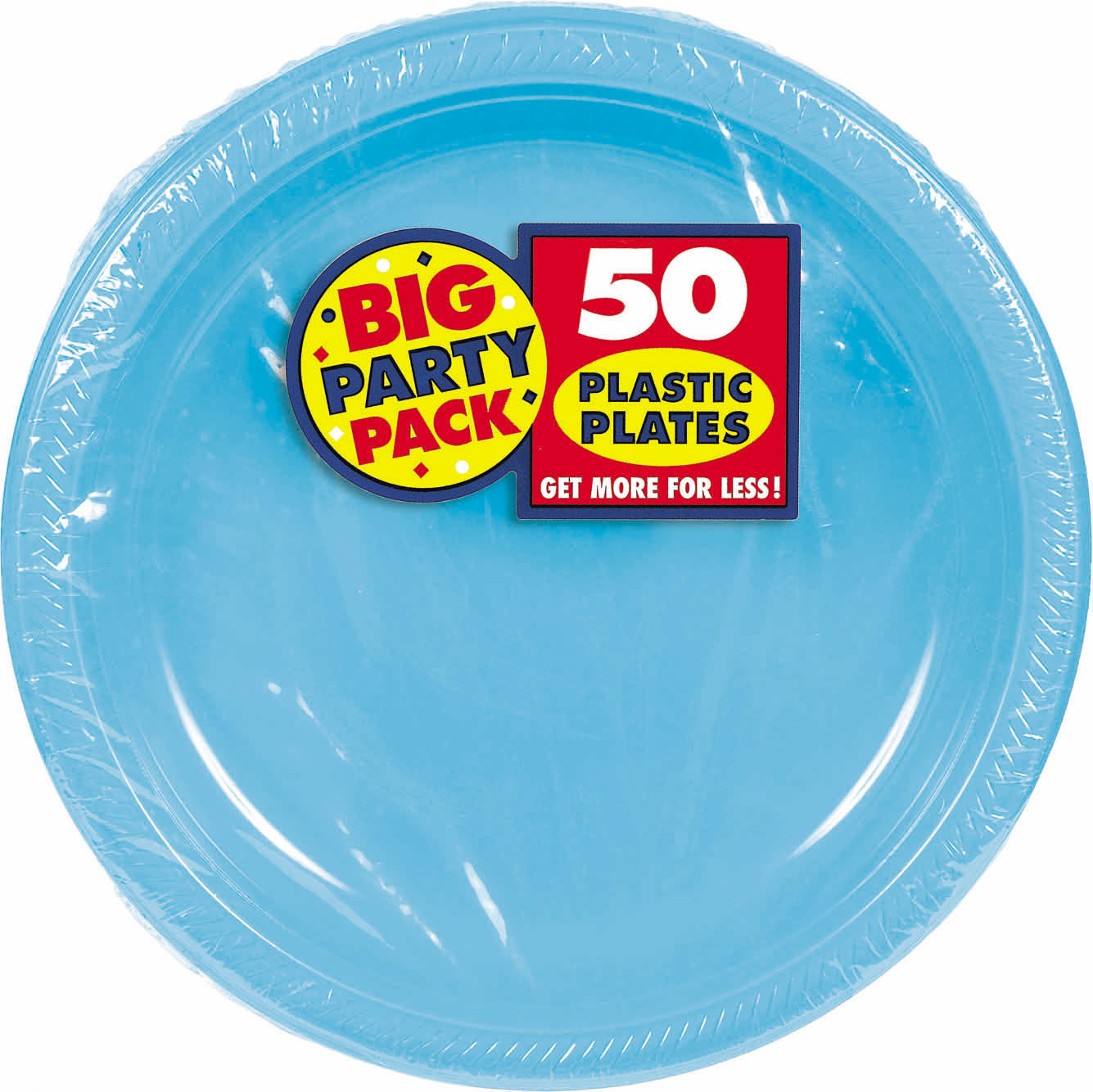 Big Party Pack 10 1/4 inch Plastic Plates- Caribbean