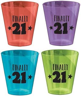 21st Birthday Bulk Shot Glasses