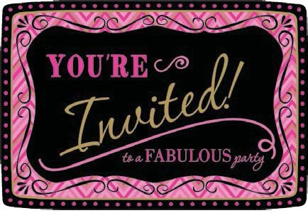 Fabulous Celebration Value Pack Postcard Invitations