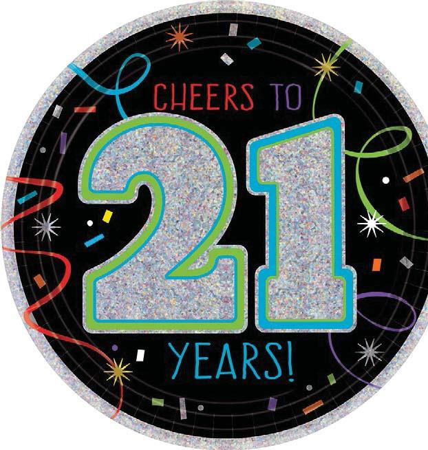21st Birthday 7″ Prismatic Plates